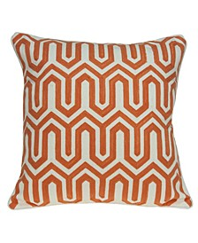 Machu Transitional Multicolored Pillow Cover With Down Insert