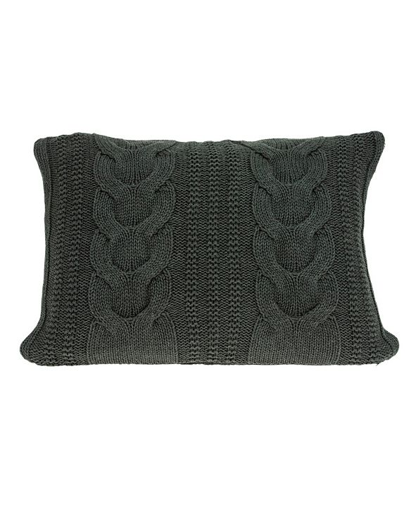 Parkland Collection Makka Transitional Grey Pillow Cover