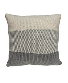 Evo Transitional Transitional Tan Pillow Cover With Down Insert