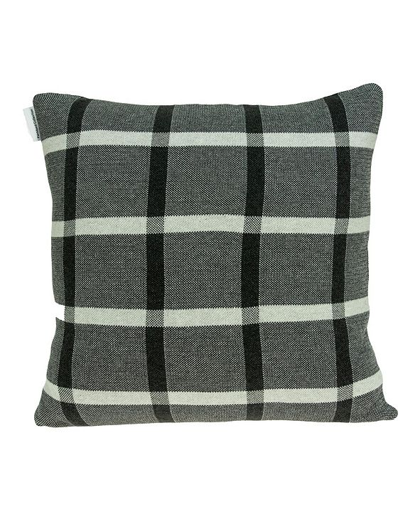 Parkland Collection Marco Transitional Grey Pillow Cover With Down Insert