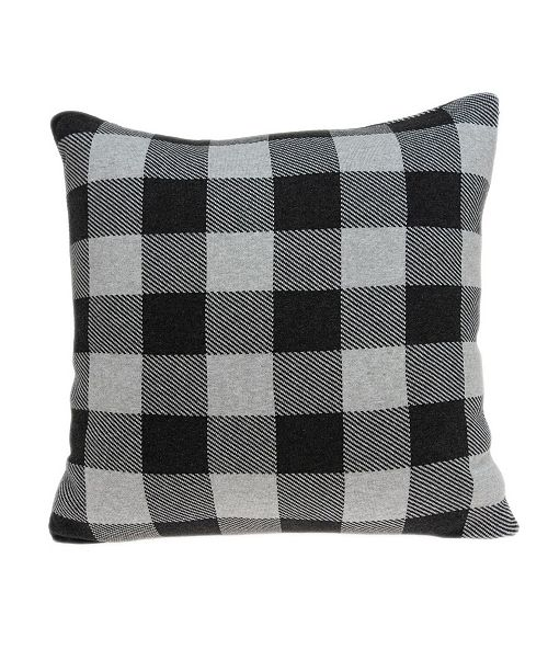 Parkland Collection Lucas Transitional Grey Pillow Cover With Down Insert