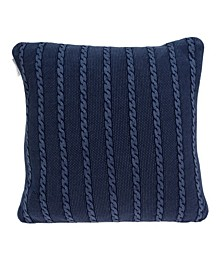 Danza Transitional Blue Pillow Cover with Polyester Insert