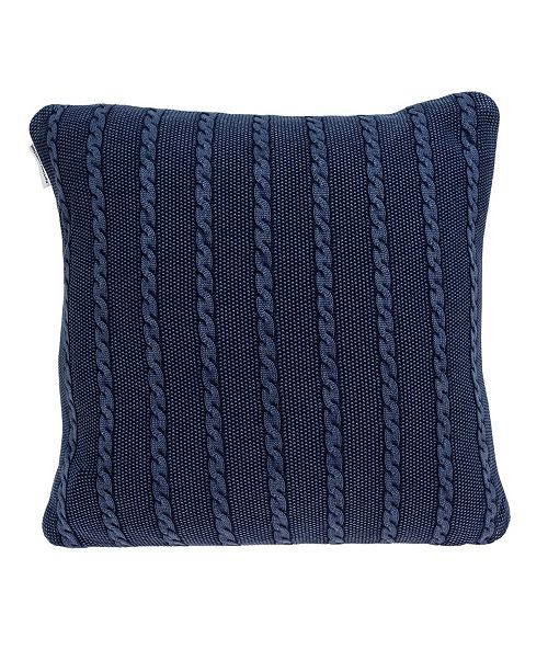 Parkland Collection Danza Transitional Blue Pillow Cover with Polyester Insert