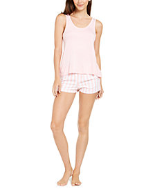 Betsey Johnson Vintage Terry Tank Top & Shorts Pajamas Set