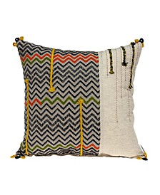 Dalia Bohemian Multicolor Pillow Cover with Polyester Insert