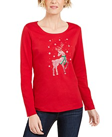 Rhinestone Reindeer Holiday Shirt, Created For Macy's