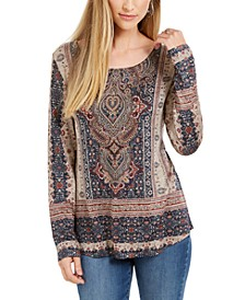 Tapestry-Print Studded Top, Created For Macy's