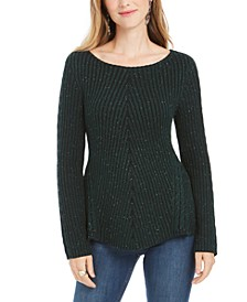 Scalloped Hem Ribbed Knit Sweater, Created For Macy's