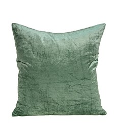Charlotte Transitional Green Solid Pillow Cover