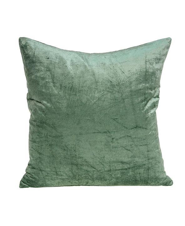 Parkland Collection Charlotte Transitional Green Solid Pillow Cover