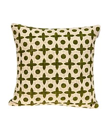 Sitara Transitional Beige Printed Pillow Cover with Polyester Insert