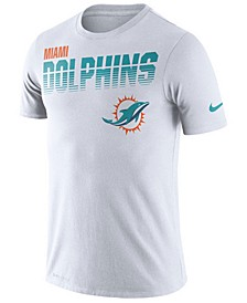 Men's Miami Dolphins Sideline Legend Line of Scrimmage T-Shirt