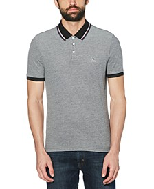 Men's Slim-Fit Tipped Birdseye Polo Shirt