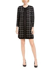Plaid Jacquard Cardigan
