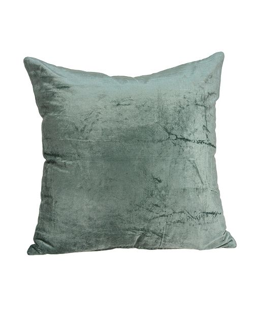 Parkland Collection Diego Transitional Sea Foam Solid Pillow Cover with Polyester Insert
