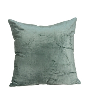 Parkland Collection Pillows DIEGO TRANSITIONAL SEA FOAM SOLID PILLOW COVER WITH POLYESTER INSERT