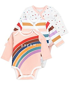 Baby Girl 3-Pack Long Sleeve Bodysuits