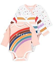 Baby Girl 3-Pack Long Sleeve Bodysuits