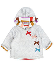 Mac & Moon Baby Girl Rainbow Hooded Jacket