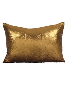 "Sirun Sequin Mermaid Design Throw Pillow, 16"" x 24"""