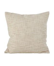 """Woven Metallic Design Lurex Cotton Throw Pillow, 20"""" x 20"""""""