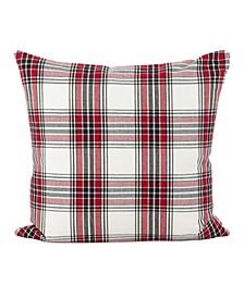 "Tartan Plaid Pattern Traditional Cotton Throw Pillow, 20"" x 20"""