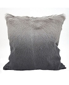 """Glam Goat Fur Polyester Filled Throw Pillow, 20"""" x 20"""""""