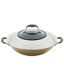 """Anolon Advanced Home Hard-Anodized 14"""" Nonstick Wok with Side Handles"""