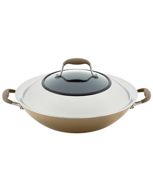 "Anolon Advanced Home Hard-Anodized 14"" Nonstick Wok with Side Handles"