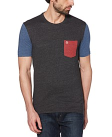 Men's Slim-Fit Colorblocked Pocket T-Shirt