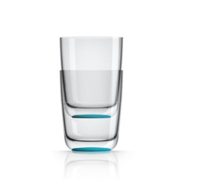 by Palm Tritan Forever-Unbreakable Highball Tumbler with Vivid Blue non-slip base, Set of 2