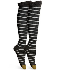 Gold Toe Women's Nep Striped Compression Socks