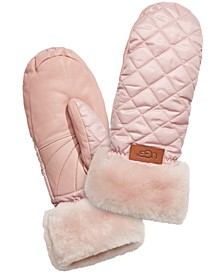Quilted Shearling Performance Mittens