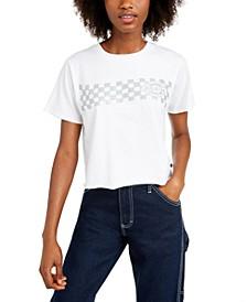 Cotton Checkered-Print T-Shirt
