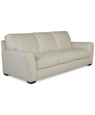 "Jaspene 91"" Leather Sofa, Created for Macy's"
