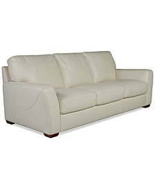 "Jaspene 91"" Leather Sofa, Created for Macy's"