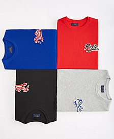 Men's Polo Script Waffle Crewneck Pajama Shirt