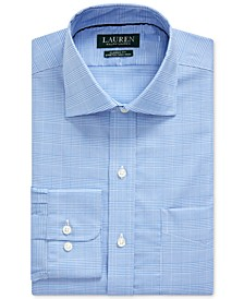 Men's Classic-Fit Easy Care Glen Plaid Dress Shirt