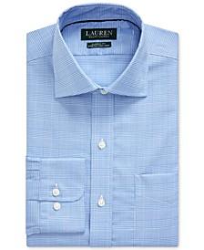 Men's Classic-Fit Easy Care Glen Plaid Dress Shirt