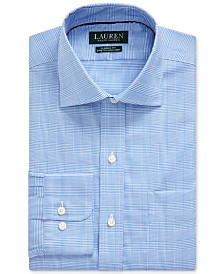 Lauren Ralph Lauren Men's Classic-Fit Easy Care Glen Plaid Dress Shirt