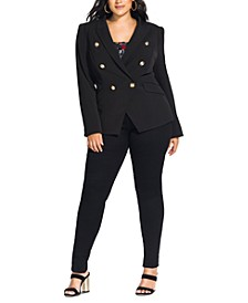 Trendy Plus Size Rock Royalty Jacket