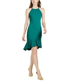 Trina Trina Turk Flounce-Hem Halter Dress