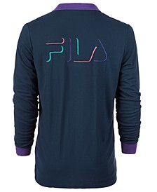 Men's Makalu 2 Logo Graphic Long Sleeve Polo Shirt
