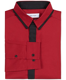 Big Boys Slim-Fit Stretch Contrast Placket Dress Shirt