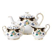 Royal Albert 100 Years 1910 3-Piece Set, Teapot Sugar & Creamer- Duchess