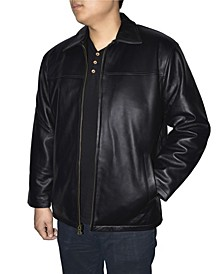 Retro Leather Men's Full Zip Jacket