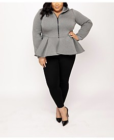 Eleven60 Peplum Hoodie by The Workshop at Macy's