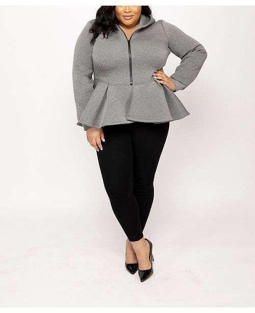 Eleven 60 Eleven60 Peplum Hoodie by The Workshop at Macy's