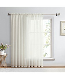"""Lucido By Canberra Sheer Voile Rod Pocket Patio Door Panel - 100"""" W X 84"""" L"""