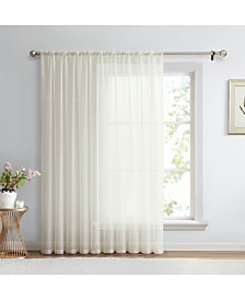 "Lucido By HLC.me Canberra Sheer Voile Rod Pocket Patio Door Panel - 100"" W X 84"" L"